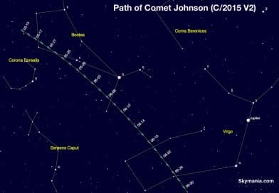 How to see Comet Johnson in the spring night sky