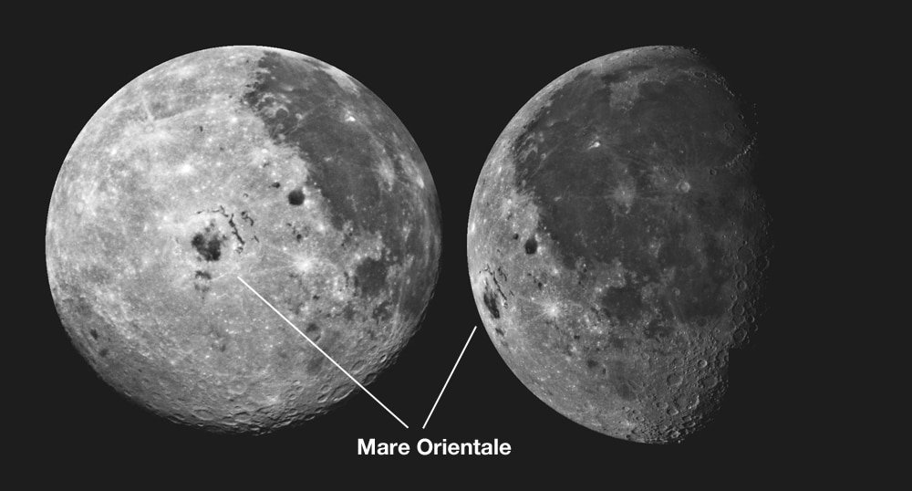 Mare Orientale from Galileo