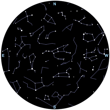 april s star chart