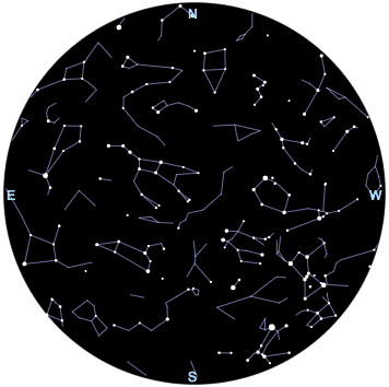 Interactive Star Map Northern Hemisphere.Night Sky Map Northern Hemisphere