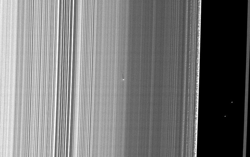 Close-up of Saturn's rings