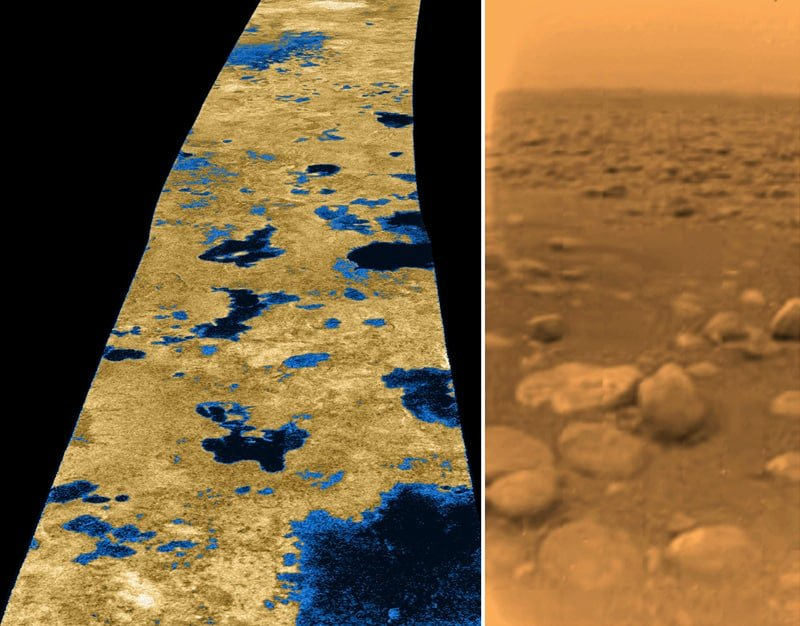 Lakes and pebbles on Titan