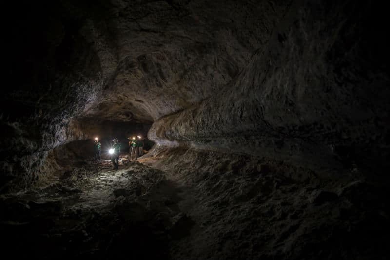 astronauts in lava tube