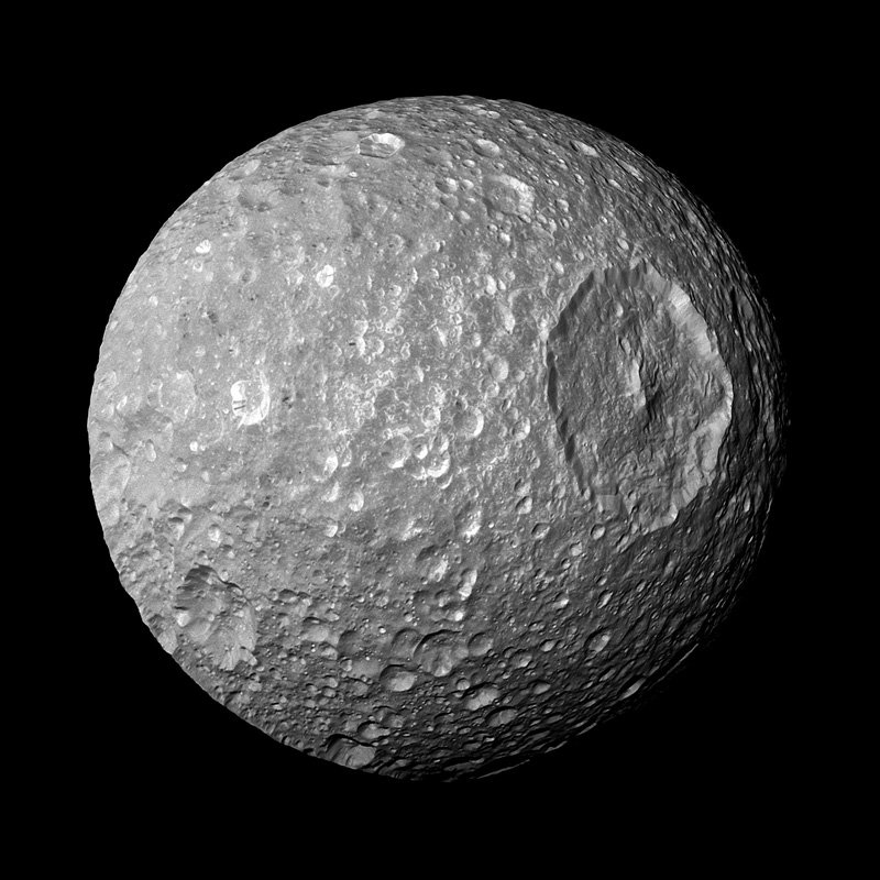 Mimas like Death Star