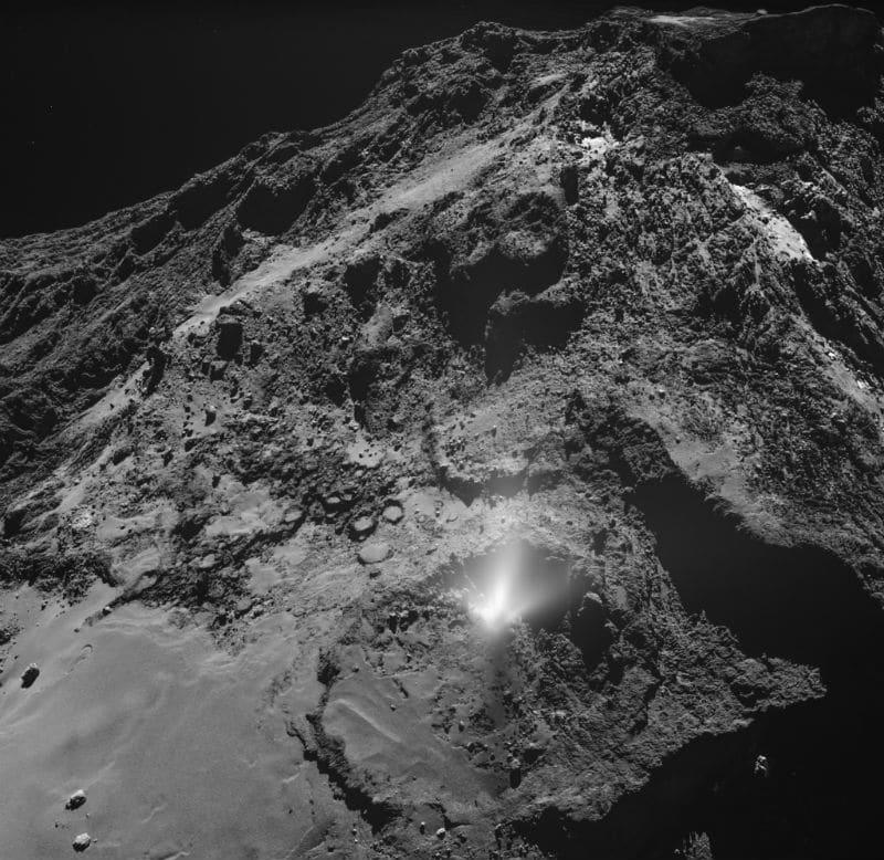 comet plume