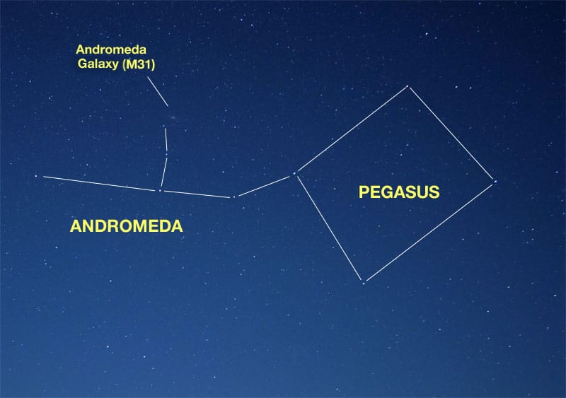 Where to find the Andromeda Galaxy