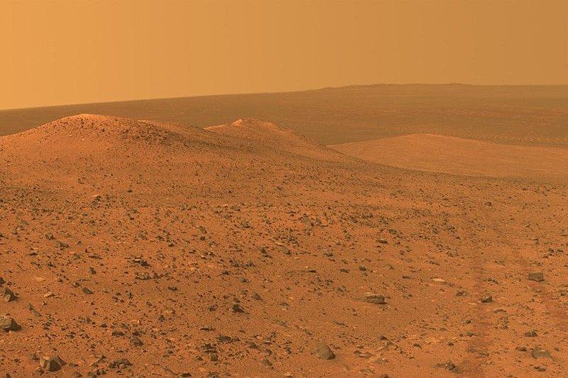 Wdowiak Ridge on the North-Western rim of Endeavour crater