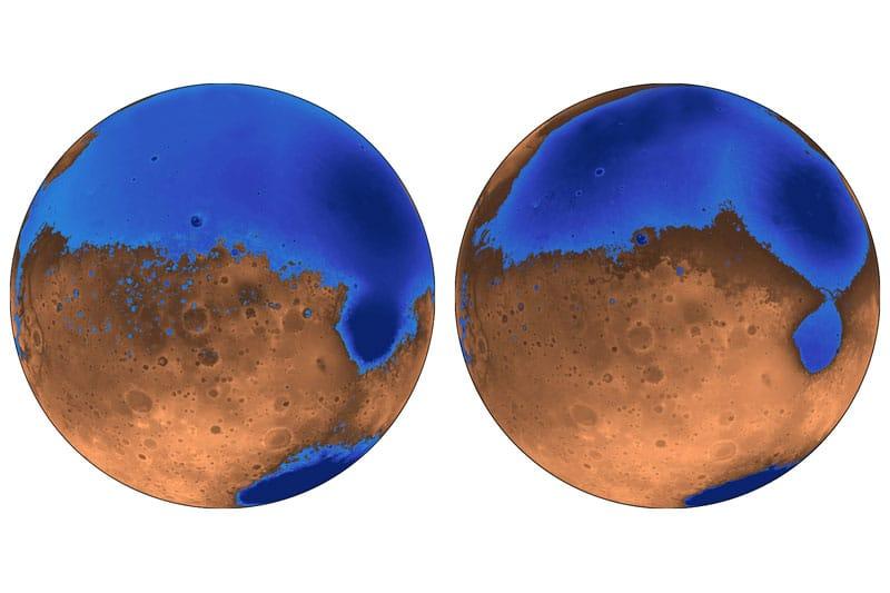 Oceans on Mars