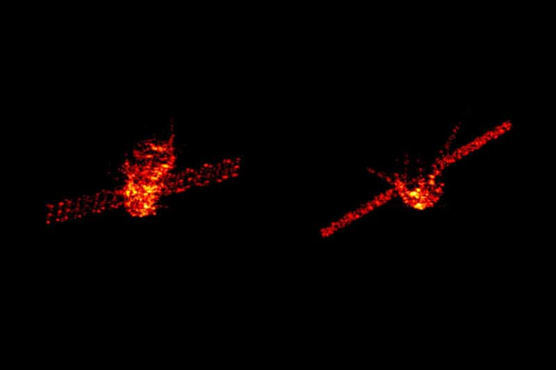 Radar images of Tiangong-1