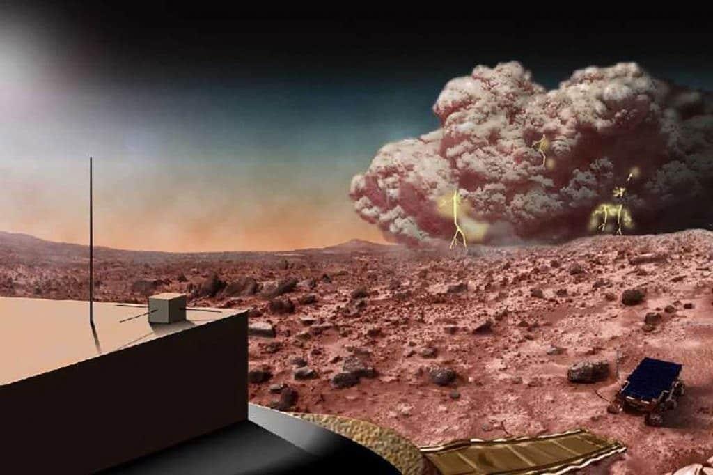 Mars dust storm. NASA