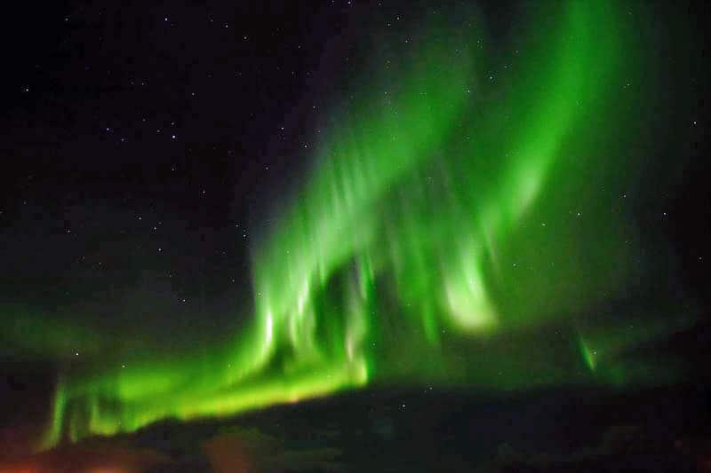 Bright aurora
