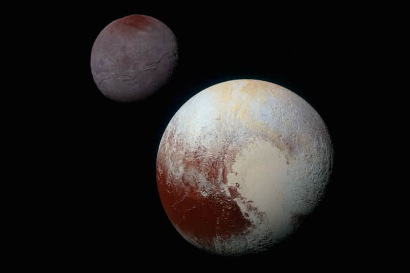 Pluto and its largest moon Charon