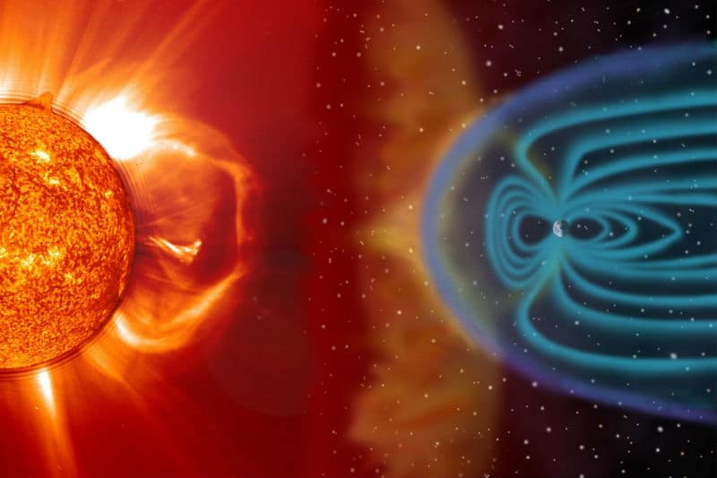 solar wind and magnetic field