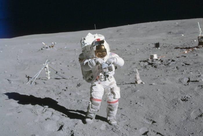 John Young on Moon