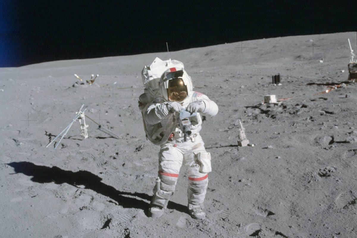 John Young on Moon