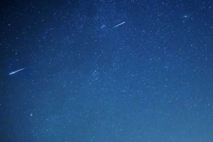 Two bright Perseids