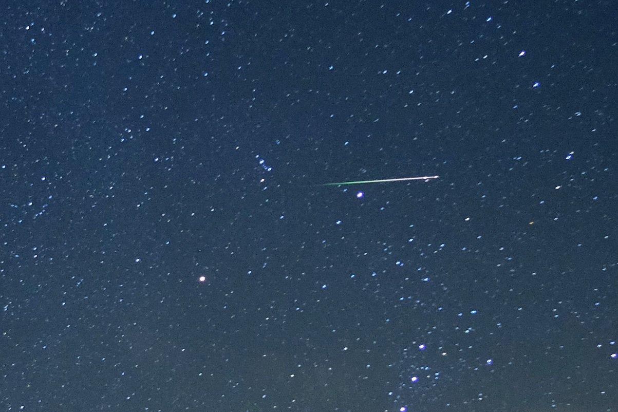 Bright meteor