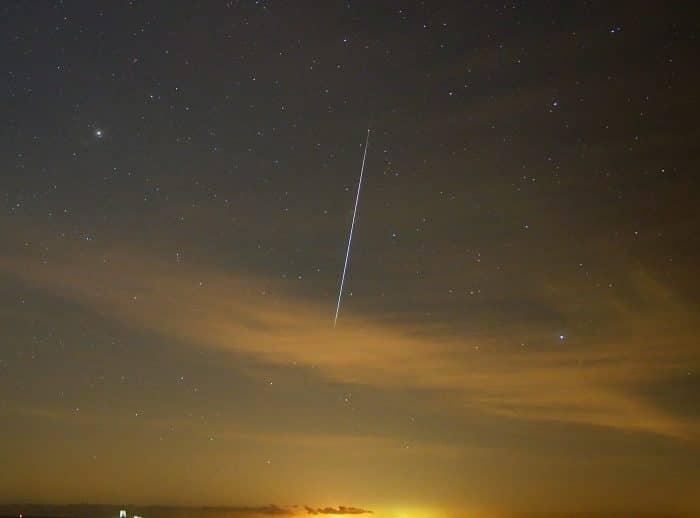 Geminid meteor in 2020