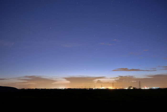 Mercury in evening sky