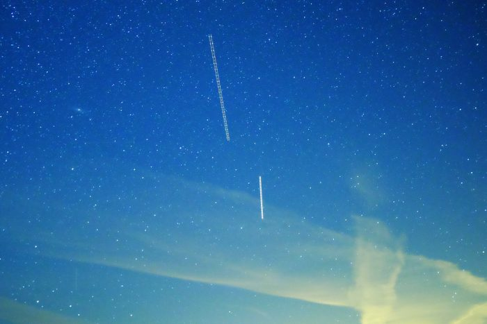Two aircraft trails